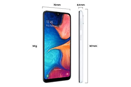 Samsung Galaxy A20e Smartphone (14.82cm (148.2 mm) 5.8 Zoll) 32GB interner Speicher, 3GB RAM, Dual SIM, Weiß) - Deutsche Version