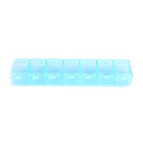 fácil de cargar Portátil 7 días de píldora semanal Organizador Tablet Pill Caja de almacenamiento Medicina plástica Caja Distribuidores Herramienta de cuidado de la salud Pastillero ( Color : As pic )