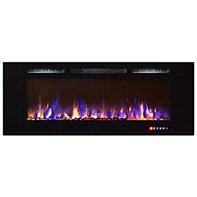"Regal Flame Astoria 60"" Multi-Color Built-in Ventless Recessed Wall Mounted Electric Fireplace Better than Wood Fireplaces, Gas Logs, Inserts, Log Sets, Gas, Space Heaters, Propane"