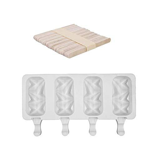 Eisform DIY EIS Am Stiel Schimmel Eiscreme Silikonform Haushaltssilikon Mit Deckel, Zur Herstellung Von EIS, Schokoladenkuchen Usw.