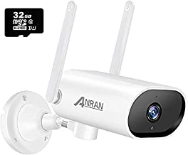 【Pan and Auto Tracking】 Security Camera Outdoor,ANRAN 5MP Ultra HD WiFi Home Surveillance Camera,IP66 Waterproof,2-Way Audio,Night Vision,Human Detection,Remote Access( 32GB SD Card Included)