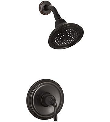 KOHLER K-TS396-4-2BZ Devonshire(R) Rite-Temp(R) shower valve trim with lever handle and 2.5 gpm showerhead, 1, Oil-Rubbed Bronze