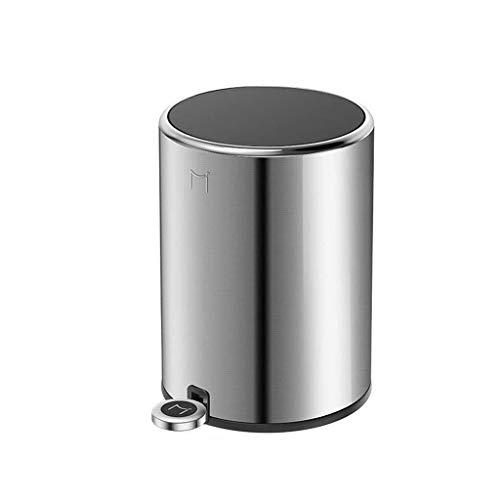 AINIYF Haushalt Papierkorb, Pedal Typ Creative-Trash Can Küche Schlafzimmer Badezimmer Trash Can Schlafzimmer Stille Trash Can (Color : A, Size : 12L)