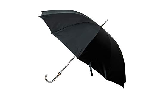 VSG Solid Curved Metal Handle Umbrella for Rain and Sun (32 Inch , Black)