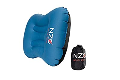 NZO Inflatable Camping Pillow (Blue/Black)