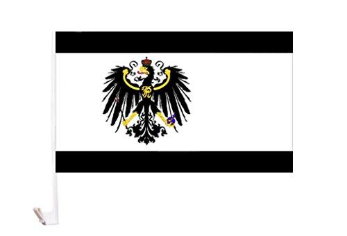 Autoflagge/Autofahne Preussen mit Reichsadler