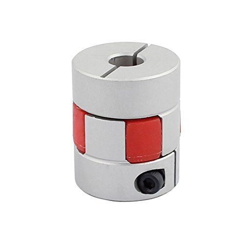 sourcingmap® 5mm bis 8mm Schaft Pflaumenförmig elastisch Kupplung 25mm Durchmesser 30mm Länge DE de