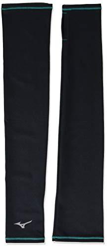 [ミズノ] ランニングウェア ブレスサーモ ランニングアームカバー J2JY7503 ブラック×ブルーグラス 日本 M (日本サイズM相当)