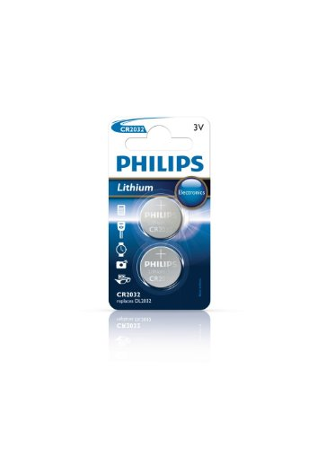 PHILIPS CR2032P2/01B - Lithium Batterien Knopfzelle - 2 Stück - 3 V