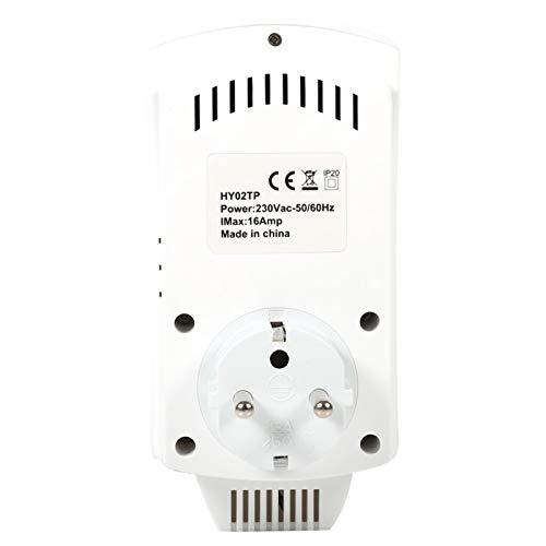 Termostato plug-in standard UE/Regno Unito, termostato di uscita programmabile a risparmio energetico per stuoia di riscaldamento del forno elettrico, riscaldatore(Regolamenti europei)