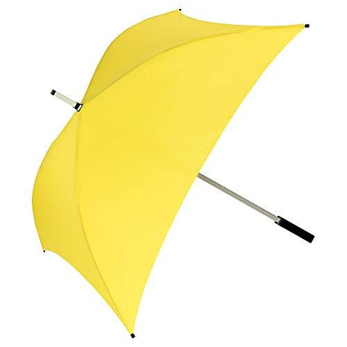 VON LILIENFELD® Ombrello Quadrata Donna Uomo Classico Charlie giallo
