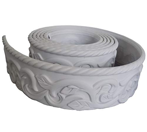 Zhangbl Home Decor Flexible Crown Molding Trim for Ceiling Wall 2.68