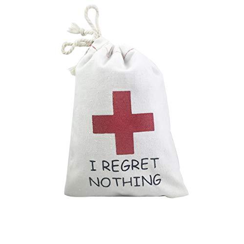 FOONEA 10pcs 5x7 inch I Regret Nothing Hangover Kit Bag Recovery Kit Survival Kit Bag Bride Tribe Bachelorette Party Decoration Wedding Bag