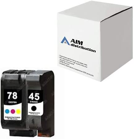 AIM Compatible Replacement for HP NO. 45/78 Inkjet Combo Pack (Black/Color) (C8788FN) - Generic