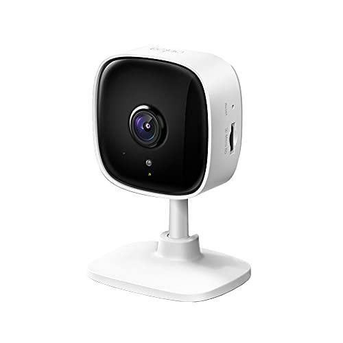 TP-Link Tapo C100 WLAN IP Kamera Überwachungskamera Innen (1080p-Auflösung, 2-Wege-Audio, Nachtsicht zu 9m, bis zu 128 GB lokaler Speicher auf SIM Karte, kompatibel mit Amazon Alexa) Weiß