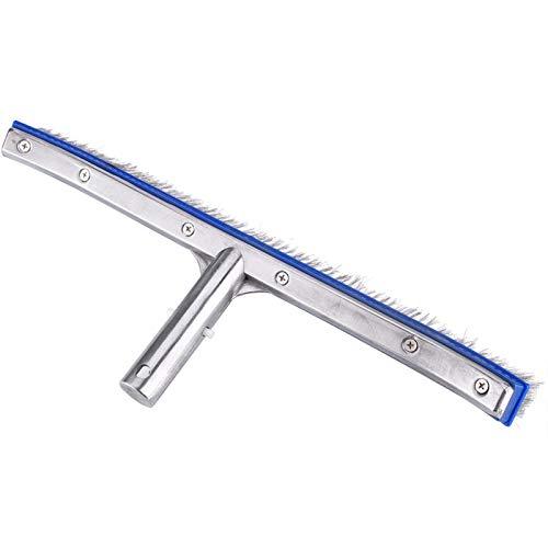 DAUERHAFT Artículo del Cepillo de Acero del Cepillo de Acero de la Piscina de 18 Pulgadas, para Las Aguas Termales del Balneario de la charca, Piscina de la Nadada