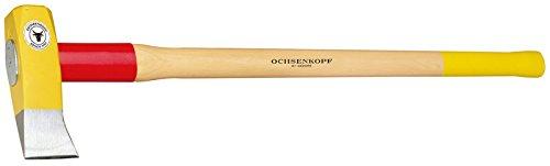 Ochsenkopf Spalthammer, Schlanke Form mit Rotband-Plus Stielbefestigung, Langlebiger Stiel aus Hickoryholz