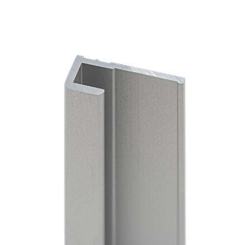 Schulte Decodesign Endprofil eckig alunatur, Länge: 210 cm, für 3 mm Wandverkleidungen, D1901621 01