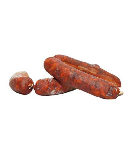 Chorizo Iberico PRIMERA PICANTE - Embutidos Ibericos de Bellota Pata Negra Envasados al Vacio - Aromatico y Especiado con Sabor a Pimentón Picante - Elaboración Tradicional 4 Piezas 500 gr Netos Aprox