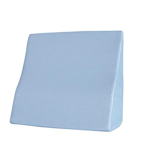 WANGTAOTAO Almohada De Cuña con Parte Superior De Espuma Viscoelástica Reduce El Dolor De Cuello Y Espalda Funda Lavable para Dormir Leer Descansar O Elevarse,Blue