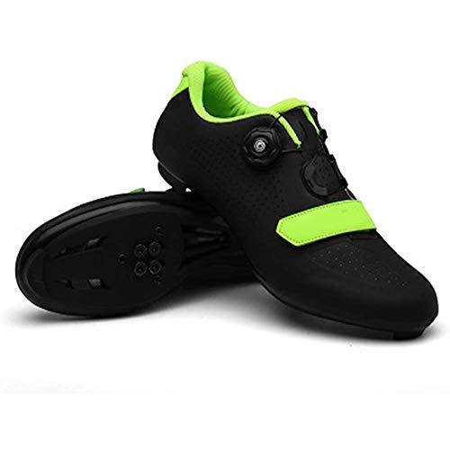 JINFAN Fahrradschuhe Radsportschuhe Herren Damen,Road Cycling Schuhe,MTB Radschuhe Mountainbike Schuhe Unisex Erwachsene,Black-39EU