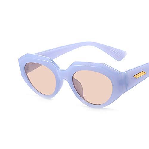 NJJX Gafas De Sol De Ojo De Gato Vintage De Lujo Para Mujer, Gafas De Sol Cuadradas De Moda Para Mujer, Tonos Negros Retro C4Blue
