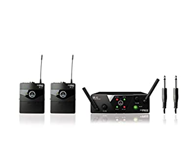 AKG WMS40 Mini Dual Instrument Wireless System - Dual Instrument, ISM/CH70