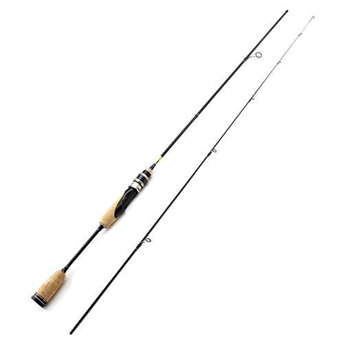 hjbds Caña de pescar ultraligera con mango de madera de 1,68 m, peso de señuelo de 2 a 6 g, peso de 3 a 3,2 kg, caña de carbono Ul Power (color: 168 cm, longitud: 168 cm)