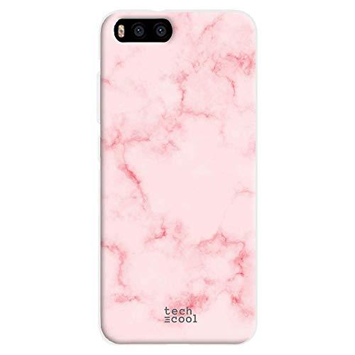 Funnytech® Funda Silicona para Xiaomi MI6 [Gel Silicona Flexible, Diseño Exclusivo] Textura marmol Rosa
