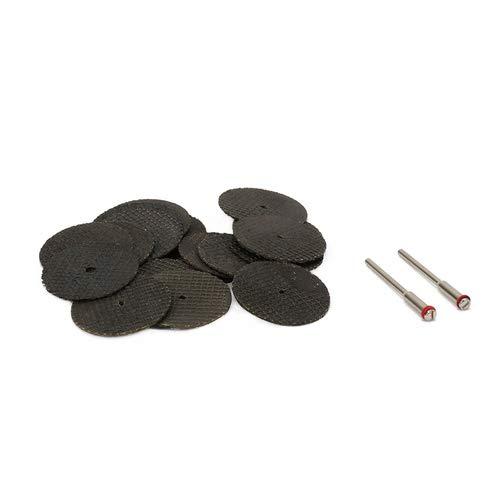 Join Ware 35Pcs 33 mm Mini Resin Rotary Tool Cutting Wheel Blade + 3Pcs Mandrel for Metal, Plastic
