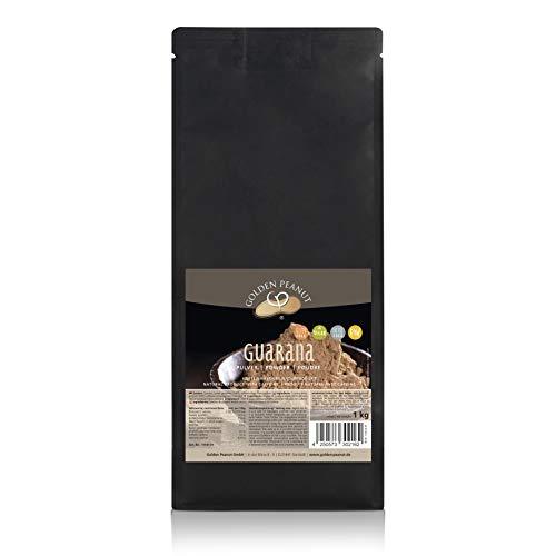 Premium reines Guarana Pulver 1 kg |ohne Zusätze | geprüfte Qualität | allergenfrei | glutenfrei |vegan | Golden Peanut