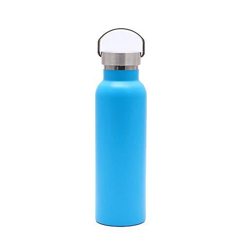 Sport Fles heet Vacuum Sport Ketel 304 RVS Isolerende Beker Dubbele Isolatie BPA Gratis Lekvrije Water Fles 12oz/350ml Natural Bamboo Steel Cover