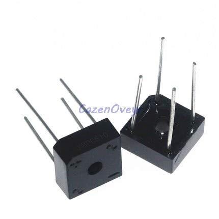 10pcs/lot KBPC608 KBPC-608 6A 800V Single Phases Diode 4pin Bridge Rectifier New and Original IC