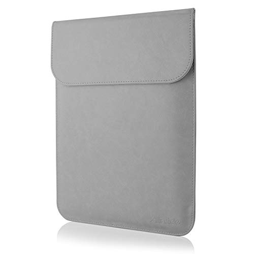 """Allinside 13-13.3"""" Laptop Sleeve Compatible with MacBook Air 13 2010-2017 (A1369 A1466)/ MacBook Pro 13 2012-2016 (A1425 A1502)/ Pro 13 CD-ROM (A1278), Synthetic Leather, Gray"""