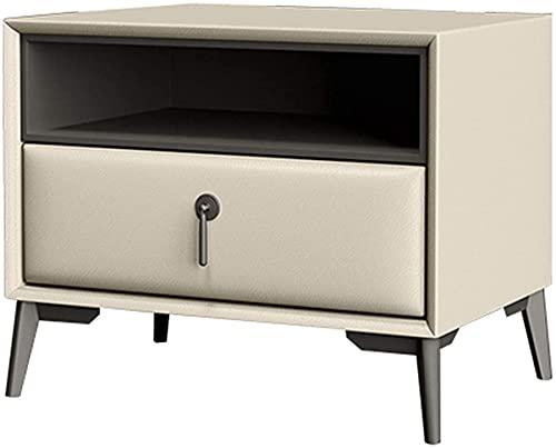 Nordic Nattduksbord, Tall Nattduksbord 1 Låda Nattduksbord, Nordic Soffahörn Öppet Slot Sidobord, Stort förvaringsutrymme, Inget behov av att montera möbler (Färg: G)