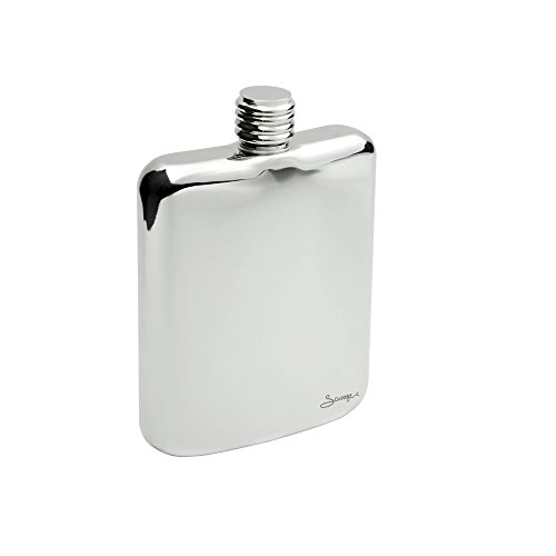 Savage 6oz Hip Flask Popular Shape 18/8 Stainless Steel Mirror Finished