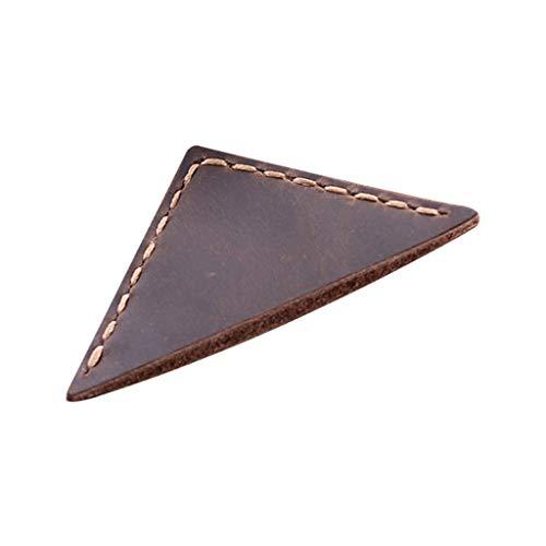 Yinuiousory - Segnalibro a triangolo per insegnanti e lettori, realizzato a mano in pelle, accessori per la lettura ad angolo Caff