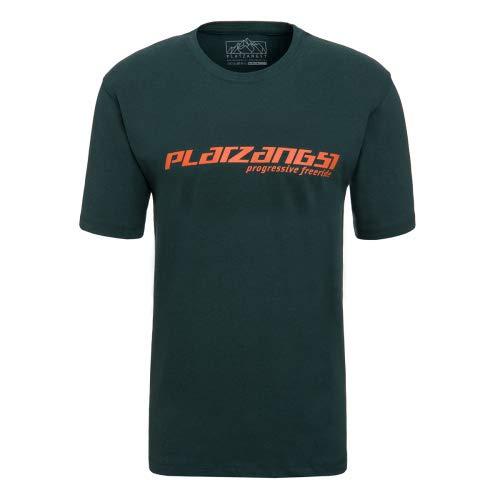 platzangst Logo T-Shirt - Grün/Orange Größe XXL