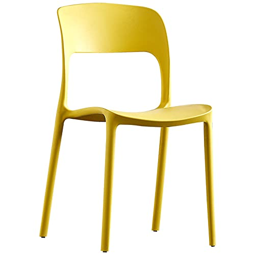 Gelb Gartenstuhl Aus Kunststoff  Set 4 Gartenstühle Stapelbar   Balkonmöbel für Terrasse oder Garten bis 160 kg ...