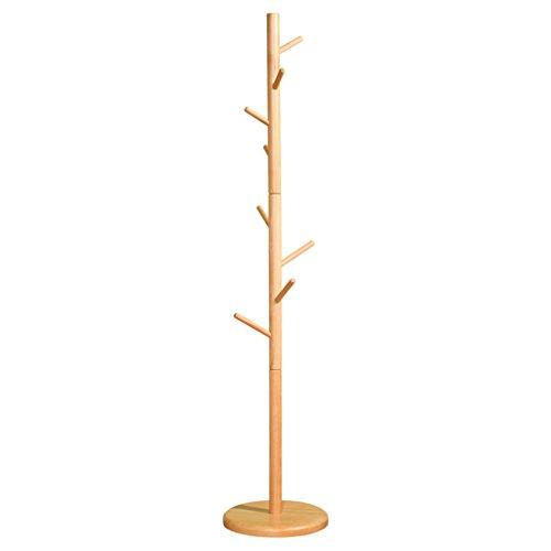 JU FU Porte-manteau Solide bois étage porte-manteau chambre à coucher créative porte-manteau simple Racks simple moderne arbre forme vêtements Rack @@