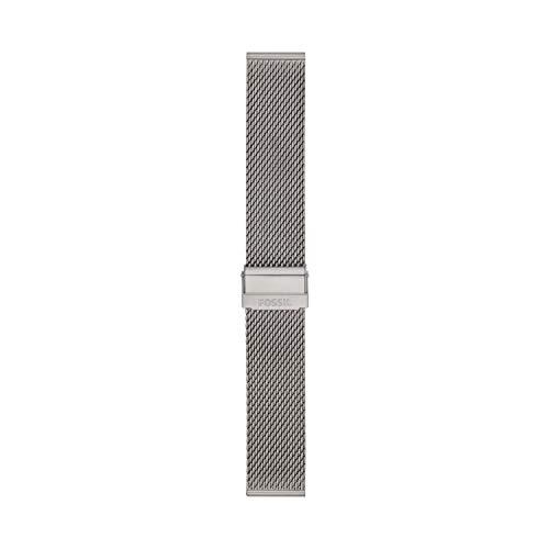 Fossil - Correa de Reloj de Malla de Acero Inoxidable de 22 mm para Hombre, S221481