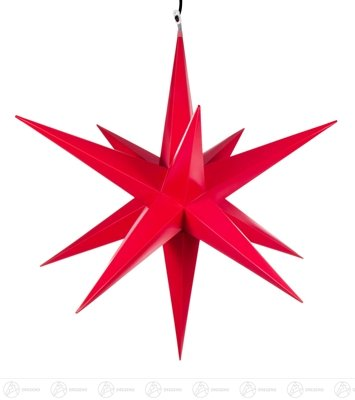 Raumschmuck Haßlauer Weihnachtsstern für außen rot, elektr. Beleuchtung Breite x Höhe x Tiefe 75 cmx75 cmx75 cm NEU Erzgebirge Leuchtstern Weihnachtsstern