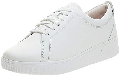 Fitflop Rally Tennis Sneaker-Leather-Updated, Zapatillas sin Cordones Mujer, Urban White, 41 EU