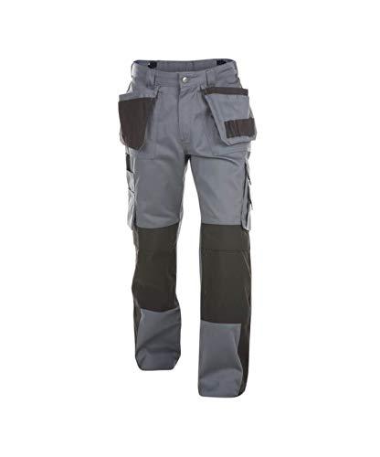 Dassy Workwear Seattle MULTITASCHEN-Bundhose MIT Kniepolstertaschen (Zementgrau/Schwarz, 52)