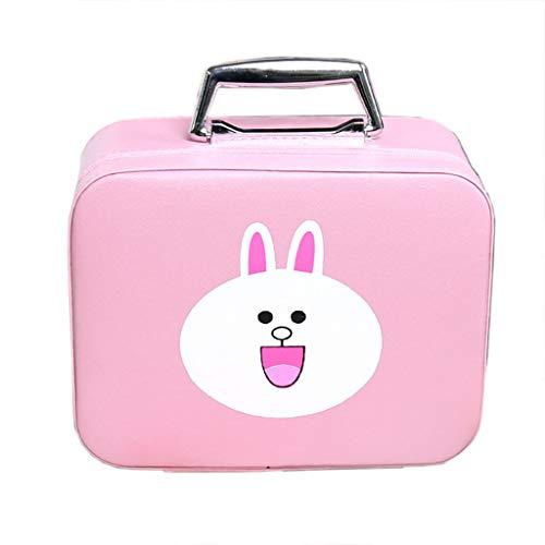 Jolie mallette pour femme, sac à cosmétiques de couleur unie, sac à bandoulière, meilleur cadeau pour dames,Pink,Small