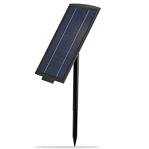 Solar Panel, FVTLED 2600MA DC 12V Output Dusk to Dawn 2 Charging Modes IP65 Waterproof Solar Cell Panel with Female and Male Connectors for FVTLED Deck, Step, Lawn, Strip, String Lights