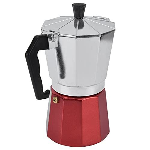 Cafetera, buena salida de café Estufa de resistencia a altas temperaturas Cafetera superior Buena presión de sujeción Conductividad térmica fuerte para la oficina en el hogar al aire libre(6 tazas)