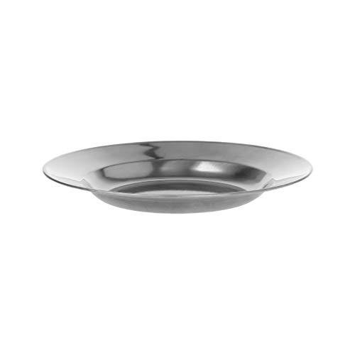 Kofun Assiette ronde en acier inoxydable pour le camping, le pique-nique, la vaisselle 16-24 cm, 16 cm