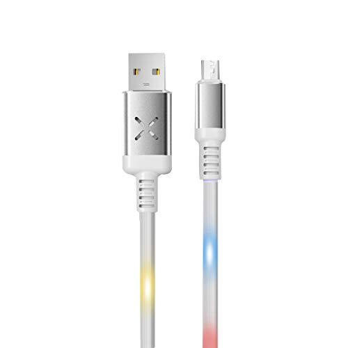 1M USB Durable Illuminated Voice Control Daten-Schnellladegerät für Android-Handys (Weiß)