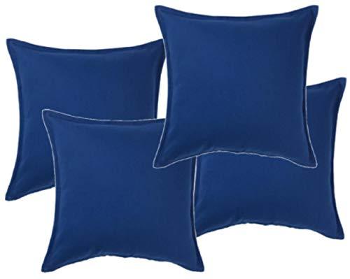 Ikea Gurli–Fundas de cojín–Azul–50x 50cm, 100% algodón, Azul, Pack de 4